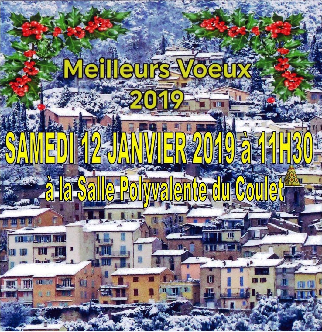 Vœux 2019 de Monsieur le MAIRE