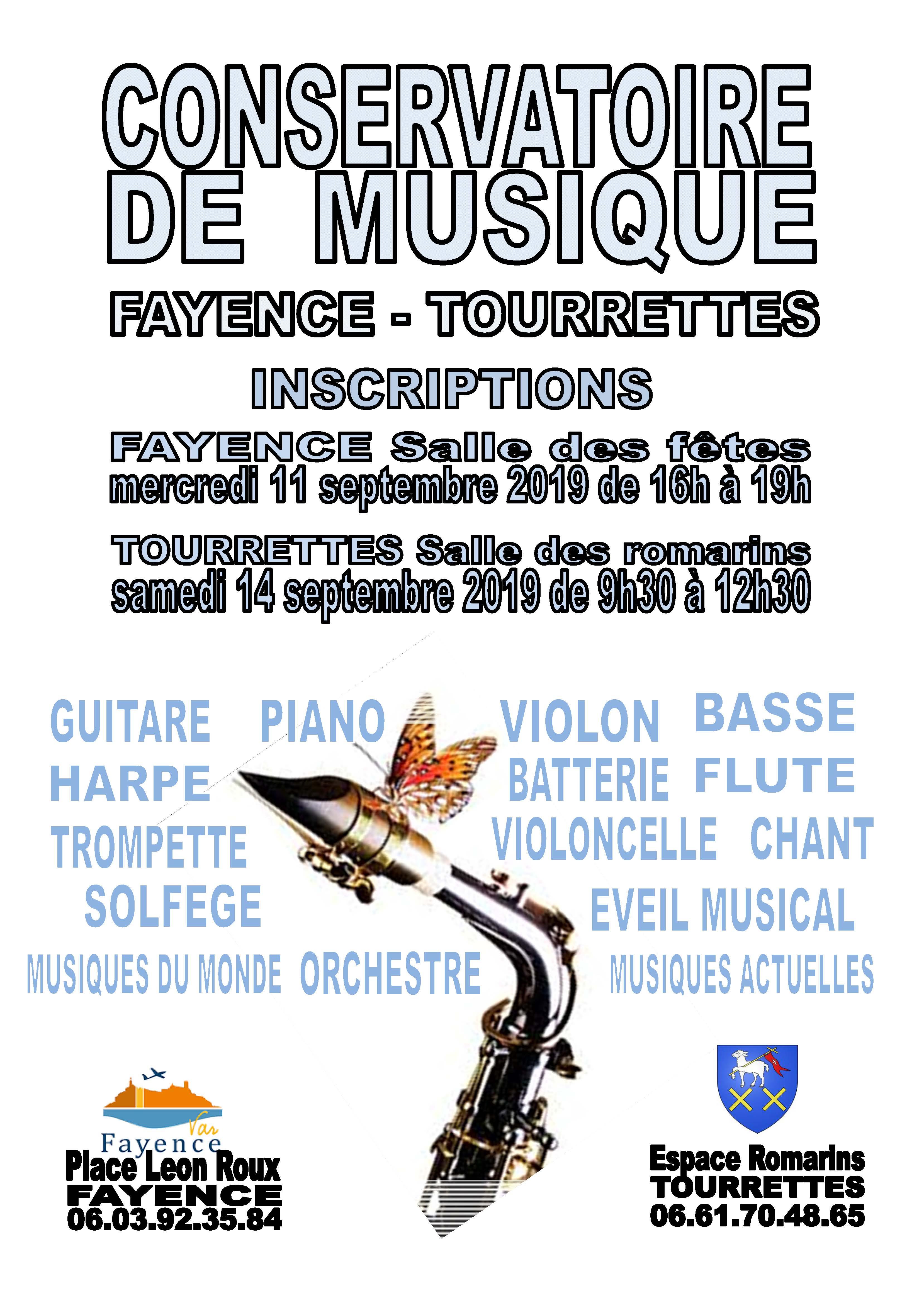 Conservatoire de Musique : Rentrée 2019