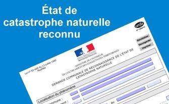 Reconnaissance de l'état de catastrophe naturelle pour la période du 22/11/2019 au 24/11/2019