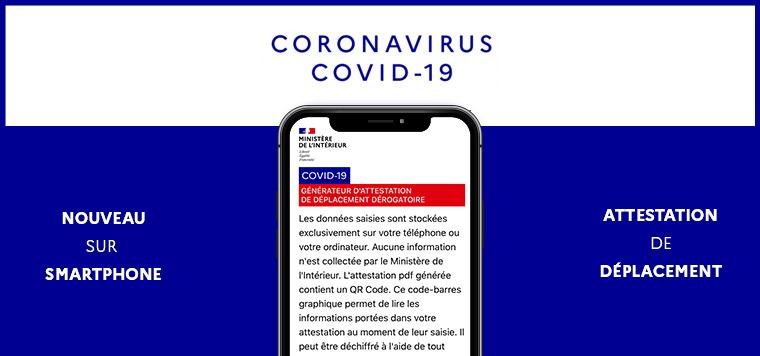 Covid 19 – Attestation numérique dérogatoire de déplacement