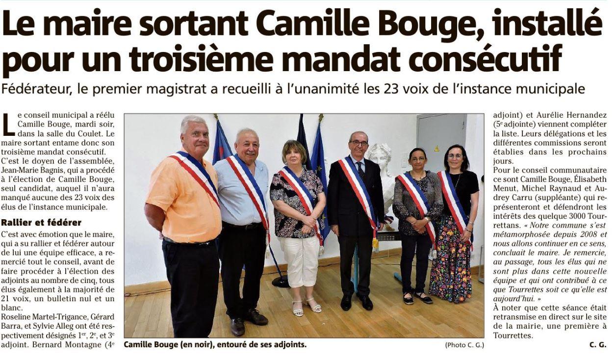 Election du Maire et installation du Conseil Municipal
